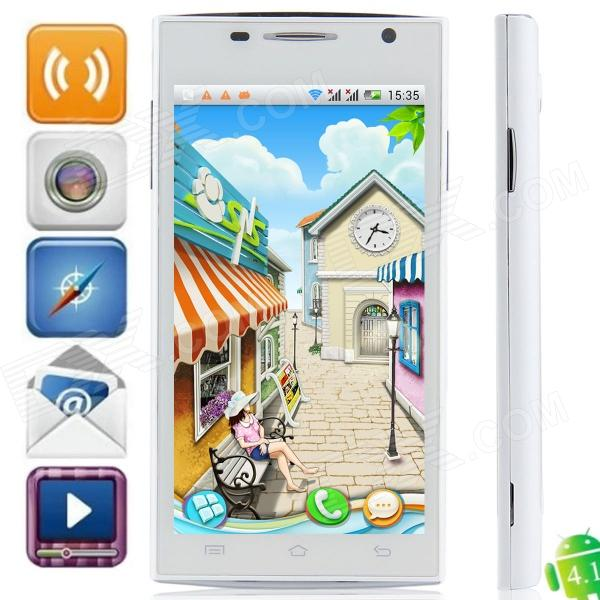 H3038 Android 4.1.1 MTK6517 Dual Core GSM Bar Phone w/ 4.5″, Quad-Band, FM and Wi-Fi – White