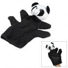 Cute Panda Style Plush Finger Puppet Toy -  Black + White