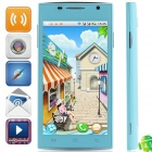 "H3038 Android 4.1.1 MTK6517 Dual Core GSM Bar Phone w/ 4.5"", Quad-Band, FM and Wi-Fi - Light Blue"
