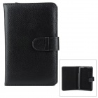 "Universal Lichee Pattern PU Leather Flip Open Case for 7"" Tablet PC - Black"