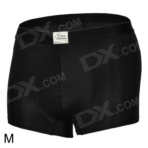 Mountainpeak CNK2 Men's Cozy Flexible Quick-dry Dacron + Spandex Boxer Shorts - Black (M)