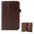 Protective PU Leather Flip Open Case for Samsung P3200 - Brown