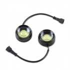 XY-0022 3W 260lm 6000K COB LED White Light Car Eagle Eye Fog Bulb w/ Steering Function - Black (12V)