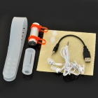 T-05 Natación Buceo impermeable MP3 Player w / FM Radio + auricular - plata + Naranja (8GB)