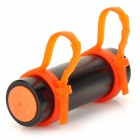 T-04 Swimming Diving Waterproof MP3 Player w/ FM + Earphone - Black + Orange (8GB)