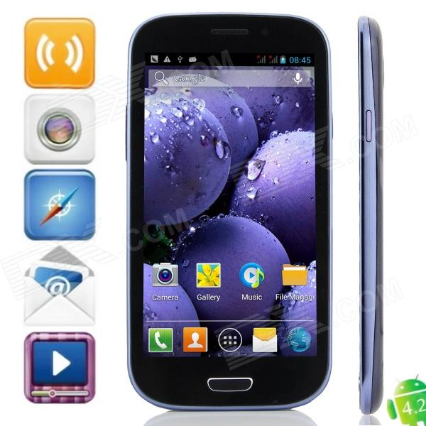 "9930i MTK6589 Quad-Core Android 4.2.1 WCDMA Bar Phone w/ 4.7"" , 4GB ROM, 1GB RAM, FM and GPS"