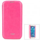 IPSKY Fashion Flip-Open PU Leather Case for Samsung Galaxy S4 i9500 - Deep Pink