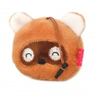 Cartoon Bear Style 3.5mm Jack Anti-dust Plug / Screen Cleaning Brush - Brown + White