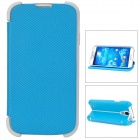 Creative Folding Flip-Open Style PU Case for Samsung Galaxy S4 i9500 - Blue
