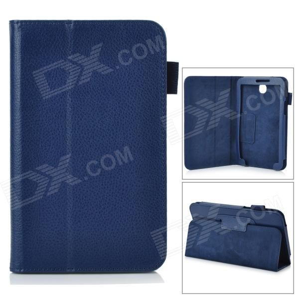Stylish Protective PU Leather Case Cover Stand for 7.0 Samsung Galaxy Tab 3 P3200 - Blue max q hot business stereo stand case for samsung galaxy tab 2 7 0 p3100 p3110 pu leather case protective book cover cases