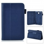 "Stylish Protective PU Leather Case Cover Stand for 7.0"" Samsung Galaxy Tab 3 P3200 - Blue"