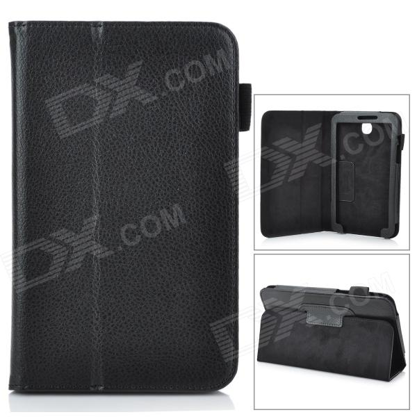 Stylish Protective PU Leather Case Cover Stand for 7.0 Samsung Galaxy Tab 3 P3200 - Black protective pu leather case cover stand for samsung galaxy tab 4 8 0 t330 black