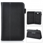 "Stylish Protective PU Leather Case Cover Stand for 7.0"" Samsung Galaxy Tab 3 P3200 - Black"