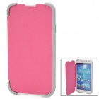 Folding Protective TPU + PU Flip-Open Case for Samsung Galaxy S4 / i9500 - Pink