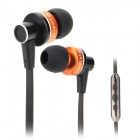 AWEI S90vi Super Bass In-ear Style Earphone w/ Microphone / Volume Control - Black + Orange