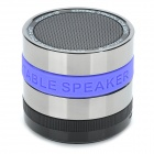 ACCNIC A6 Bluetooth V3.0 Mini 2-CH Speaker w/ TF / FM Radio / Mini USB - Silver + Black + Purple