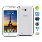 "A7100 5.0 ""Android 4.0"" Phablet Smartphone w/ 5.0"" Capacitive Screen, TV, Bluetooth, Wi-Fi - White"