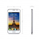 "A7100 5,0 "" Android 4.0"" Phablet Smartphone w / 5.0"" écran capacitif, TV, Bluetooth, Wi-Fi - blanc"