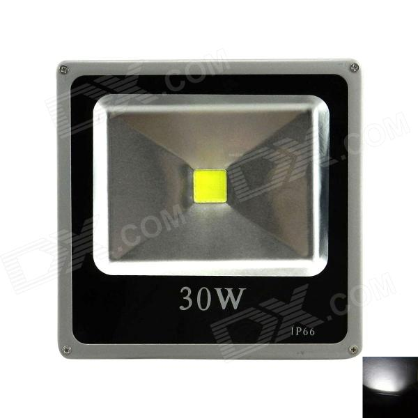 Outdoor Waterproof Flat Panel 30W 2400lm 6500K LED White Light Flood Lamp - Black + Grey (110~265V) ultrathin led flood light 200w ac85 265v waterproof ip65 floodlight spotlight outdoor lighting free shipping