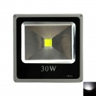 Outdoor Waterproof Flat Panel 30W 2400lm 6500K LED White Light Flood Lamp - Black + Grey (110~265V)