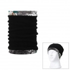 Draw Cord Multipurpose Warm Keeping Hat Scarf - Black