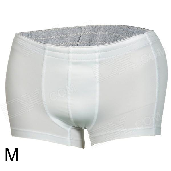 Mountainpeak Outdoor Men's Quick Drying Polyester Boxer Briefs Underpants - White (Size M)