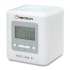 "H2XD IP1500 7"" LCD Digital Active Mini Speakers w/ Alarm Clock  (4 x AA)"