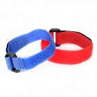 Multifunction Bike Cycling Velcro Nylon Cable Tie Strap - Red + Blue (2 PCS)