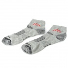 Santo Outdoor Sports Microfiber + Cotton Men's Socks - Grey (Size L)
