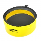 Ryder Outdoor Camping Folding Washbasin - Yellow + Black (5L)