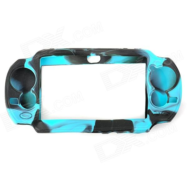 Mini Protective Silicone Cover Case for PS Vita - Blue + Black