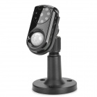 KNK-CM01 Mini Wireless Night Vision 8 LEDs Monitoring Alarm Set - Black