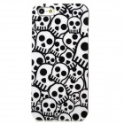 Protective Small Skull Pattern Plastic Back Case for Iphone 5 - White + Black
