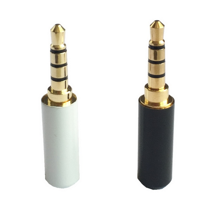 3.5mm Stereo Soldering Plug - Gold + Silver + Black (2 PCS)