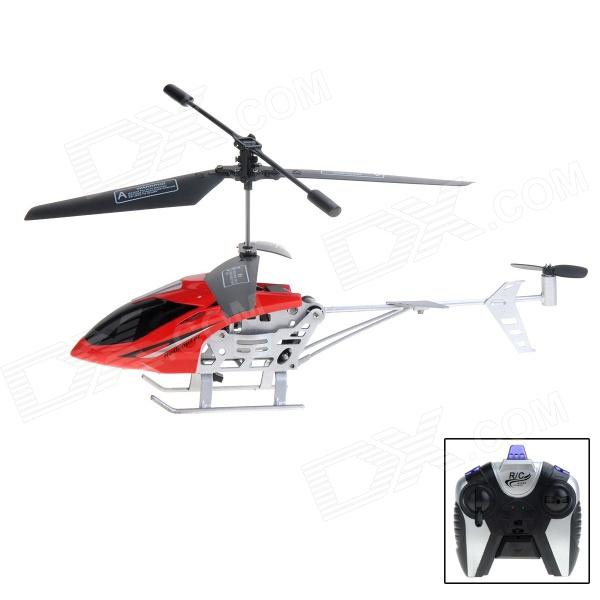 Mini 2-CH IR R/C Helicopter - Red + Black + Silver
