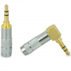 3.5mm Stereo Soldering Plug - Gold + Silver (2 PCS)