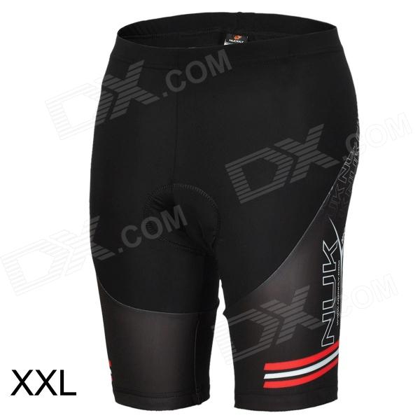 NUCKILY BK277 Men's Stylish Quick-dry Anti-bacteria Padded Short Pants for Cycling - Black (XXL)