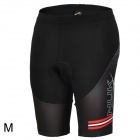 NUCKILY BK277 Men's Stylish Quick-dry Anti-bacteria Padded Short Pants for Cycling - Black (M)