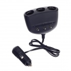 Buy WF-6062 1-to-3 Car Cigarette Lighter Socket Splitter Individual Switch - Black (DC 12 / 24V)