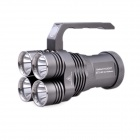 Palight ETS40 4 x Cree XM-L U2 2348lm 4-Mode Cool White Flashlight w/ Grip Handle - Grey (4 x 18650)