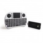 ESER--QC802 Quad Core Android 4.2 Mini PC Google TV Player + MWK08 Air Mouse Keyboard - Black+White