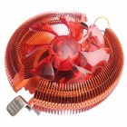 90mm 4Pin PWM Ultra Silent fan CPU Cooler for Intel 775 1156, AMD 754 - Orange