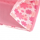 Cute Flower Pattern Folding Non-Woven Fabrics Hanging Storage Bag - Red + White