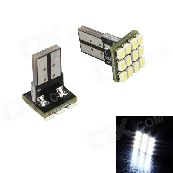 Merdia T10 144lm 6000K White 12-SMD 1210 912 921 Canbus Error Free LED Backup Lights Bulbs (Pair) )
