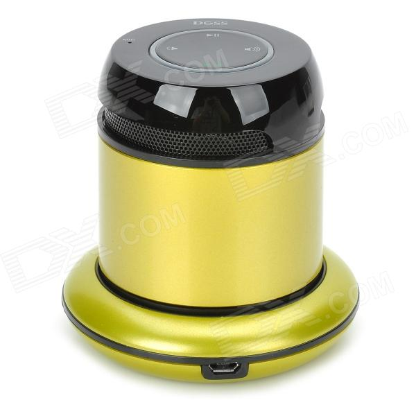 Doss 1168 Wireless Bluetooth V3.0 Speaker for Cellphones w/ Charging Dock - Yellowish Green + Black ufo shaped dual charging dock stand w led for xbox one wireless controller black