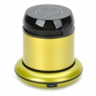 Doss 1168 Wireless Bluetooth V3.0 Speaker for Cellphones w/ Charging Dock - Yellowish Green + Black