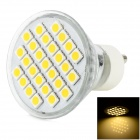 LeXing LX-016 GU10 4W 280lm 3300K 27-SMD 5050 LED Warm White Spotlight Bulb - Silver