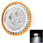 GU10 5W 85lm 6000K 5-LED White Spotlight Bulb - Golden + Silver (220V)