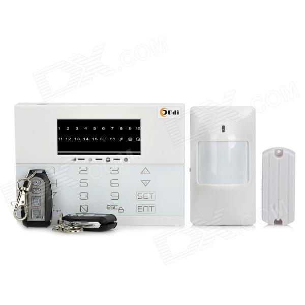 AD-8088-EODW-TE PSTN / LED Touch Keypad Wireless Home Alarm System - White 1set safe armed hot selling gsm alarm system wired wireless 433mhz russian english voice prompt built in relay support