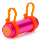 T-03 Swimming Diving Waterproof MP3 Player w/ FM Radio + Earphone - Deep Pink + Orange (8GB)